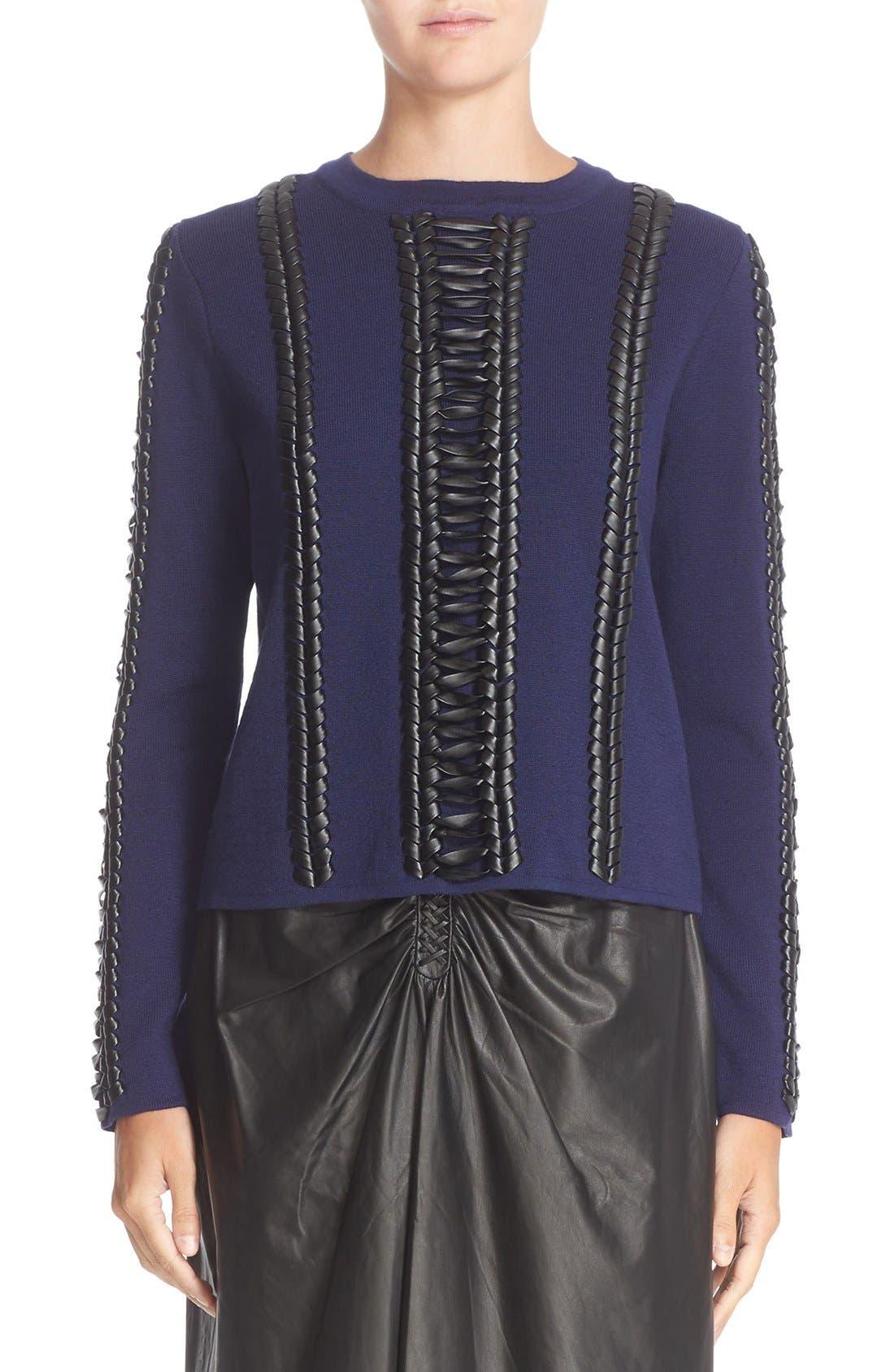 Alternate Image 1 Selected - Altuzarra Deals Lace Detail Wool Sweater
