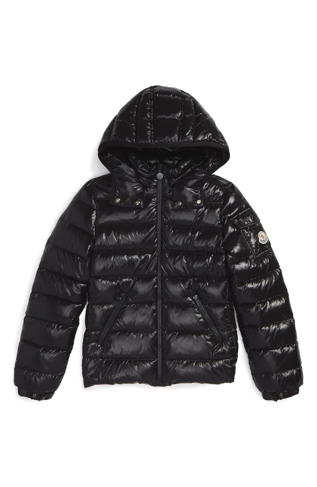 'Bady' Hooded Down Jacket,                         Main,                         color, Black