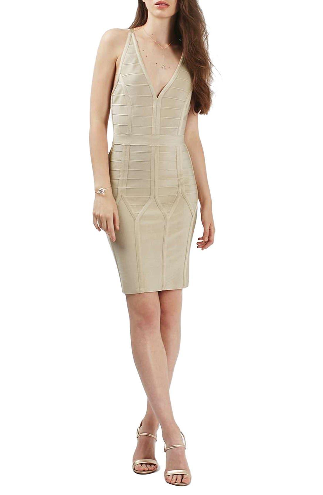 Alternate Image 2  - Topshop Strappy Bandage Body-Con Dress