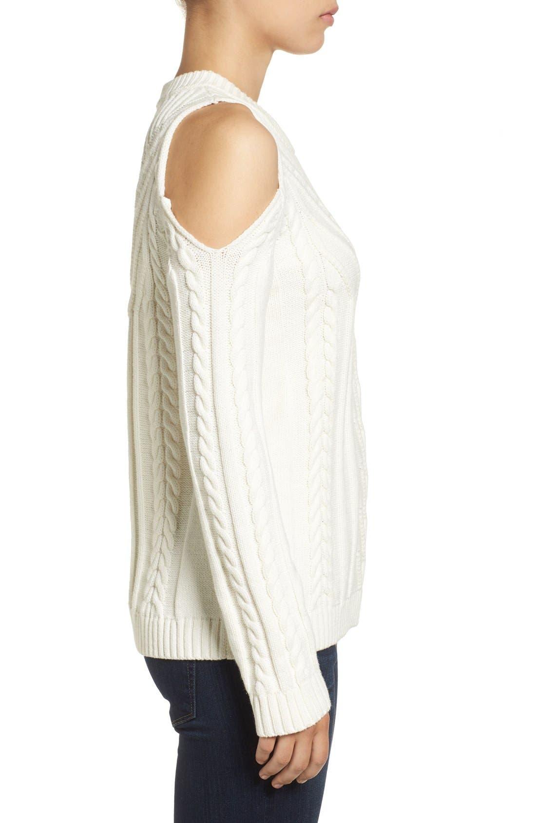 Alternate Image 3  - Vince Camuto Cold Shoulder Sweater (Regular & Petite)