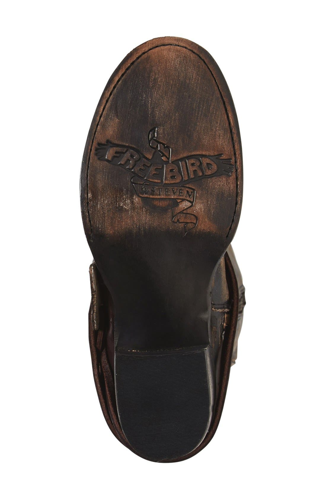 'Cash' Tall Boot,                             Alternate thumbnail 4, color,                             Brown Multi Leather