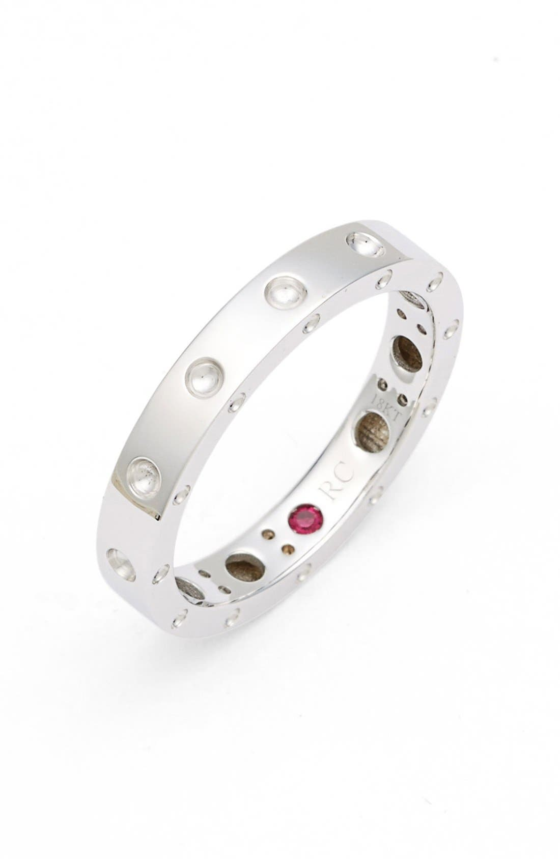 'Symphony - Pois Moi' Ruby Band Ring,                             Main thumbnail 1, color,                             White Gold