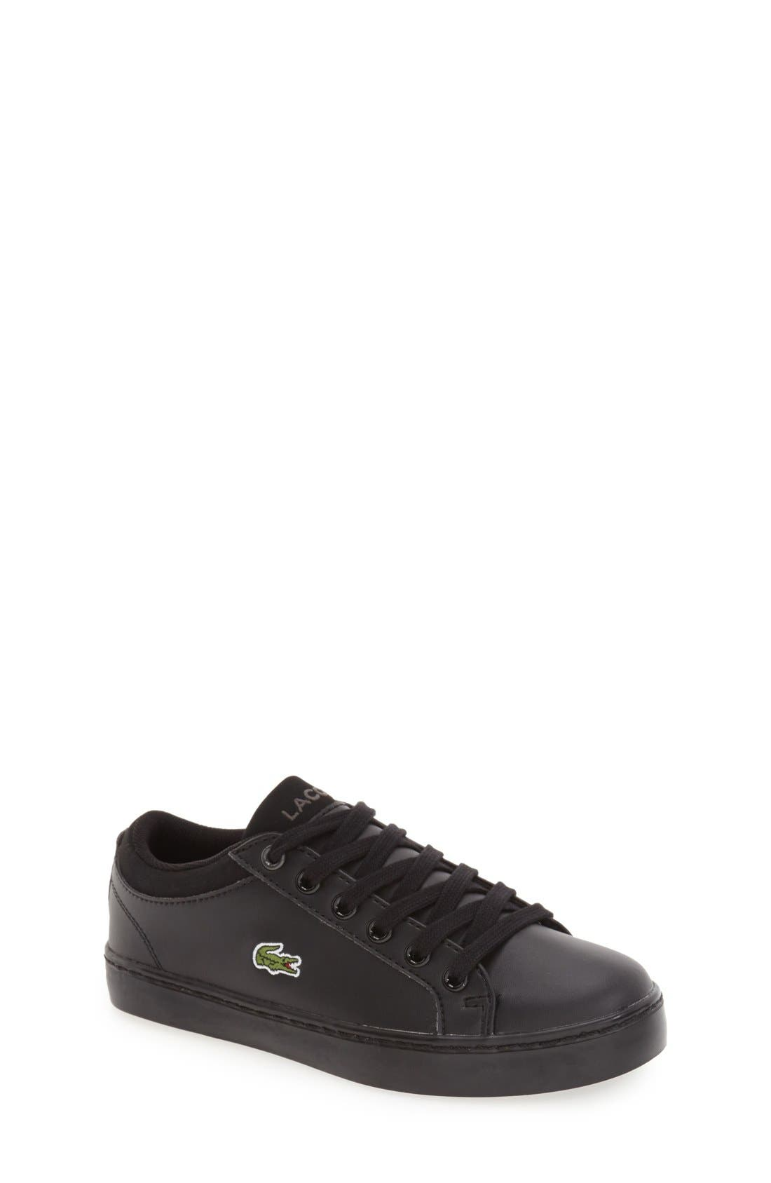Alternate Image 1 Selected - Lacoste 'Straightset' Sneaker (Toddler, Little Kid & Big Kid)