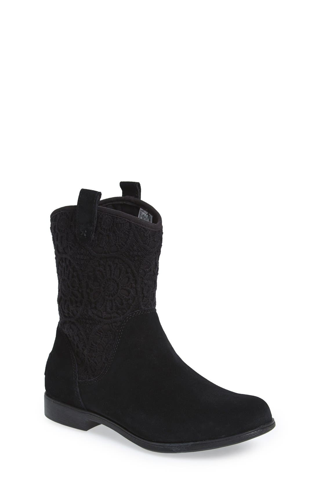Alternate Image 1 Selected - UGG® 'Dahlia' Lace Trimmed Boot (Little Kid & Big Kid)