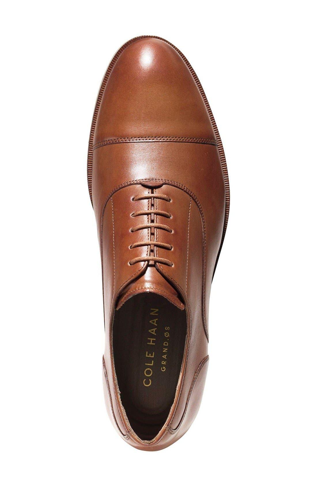 Harrison Grand Cap Toe Oxford,                             Alternate thumbnail 3, color,                             British Tan Leather