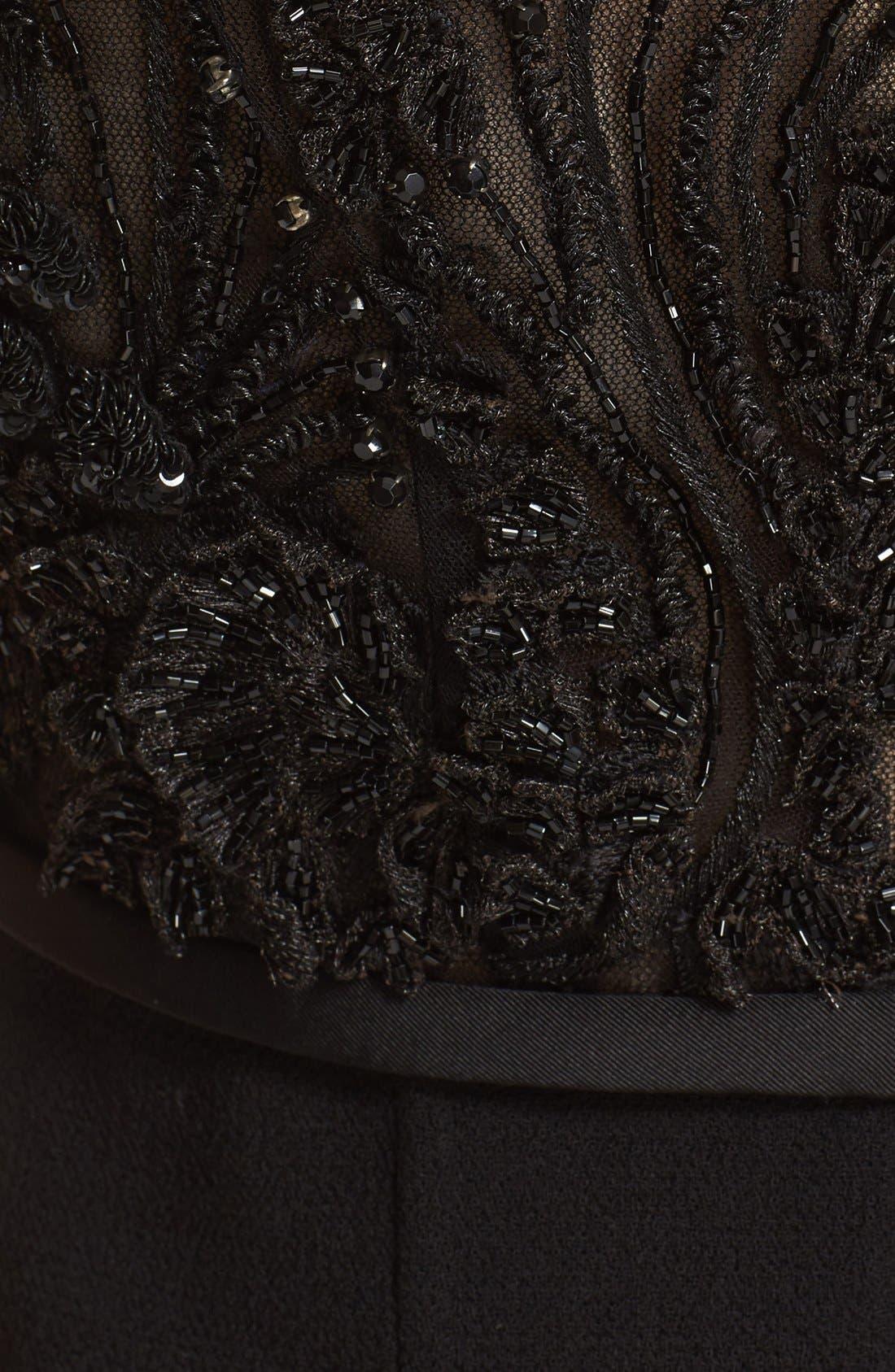 Alternate Image 3  - Carmen Marc Valvo Couture Embellished Bodice Sleeveless Cocktail Dress