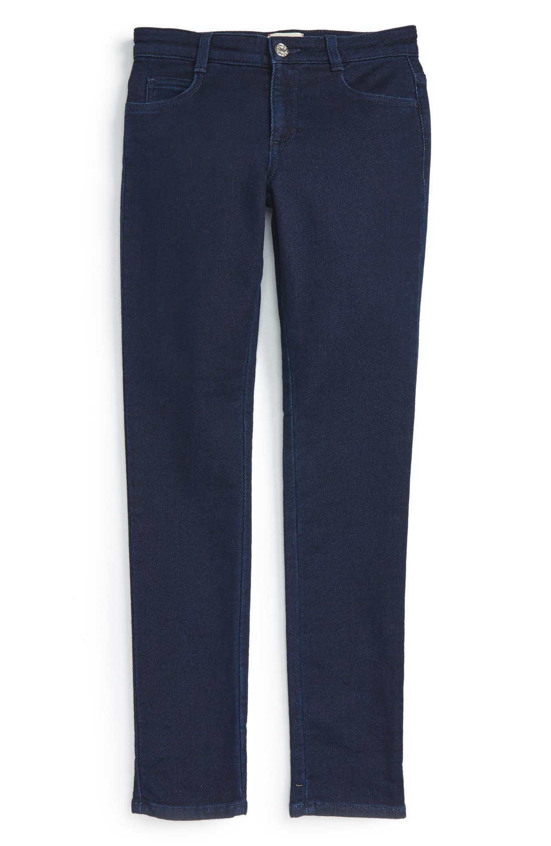 Skinny Knit Pants,                             Main thumbnail 1, color,                             Indigo Multi