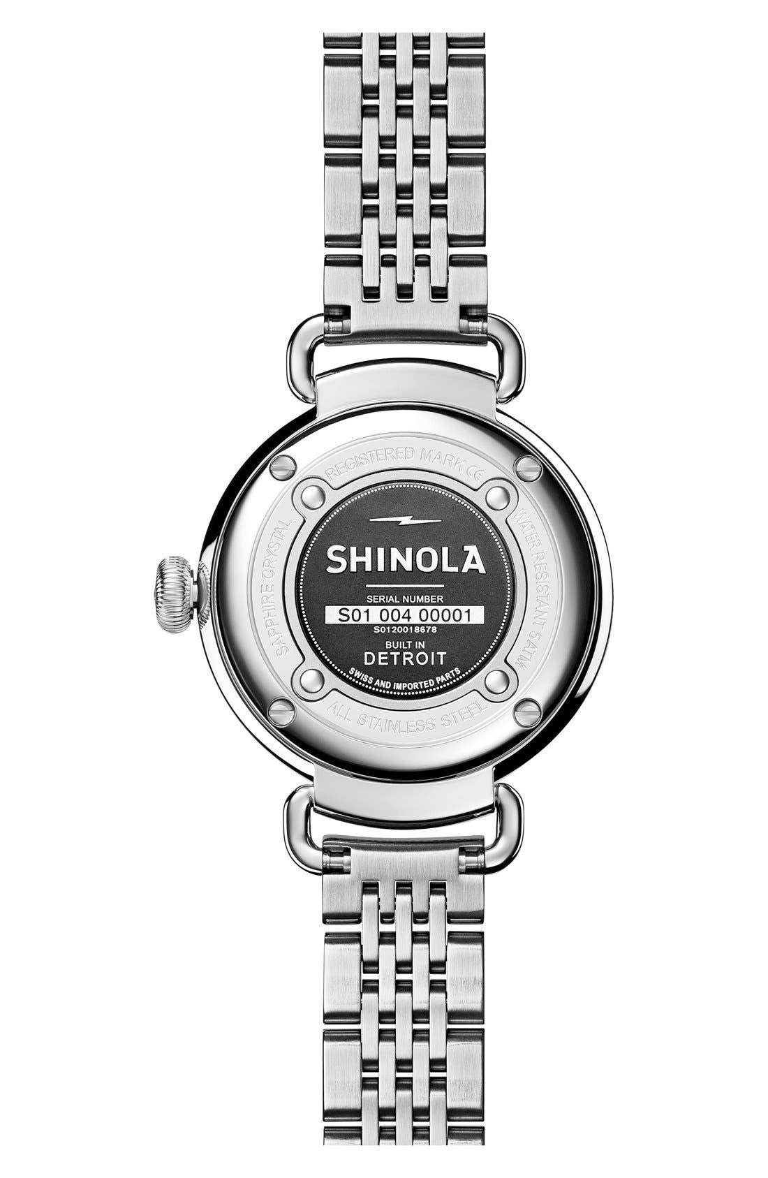 Alternate Image 2  - Shinola The Canfield Bracelet Watch, 32mm