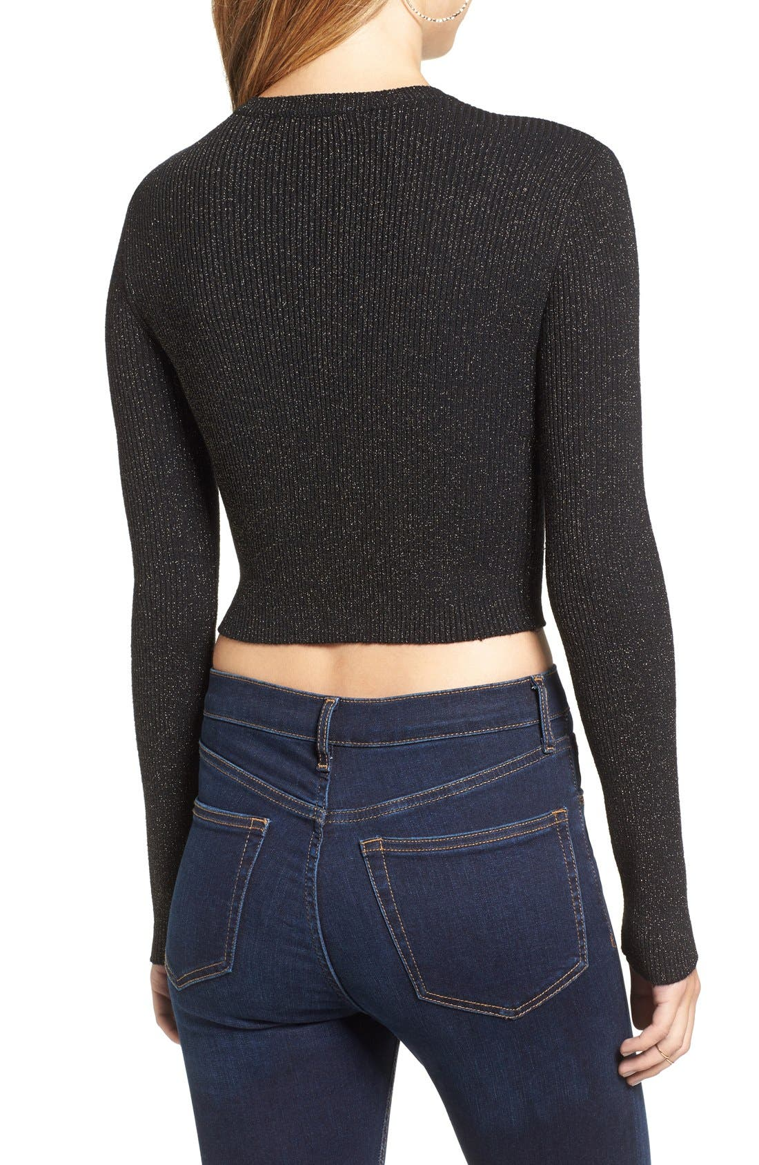 Alternate Image 2  - ASTR 'Edna' Crop Sweater