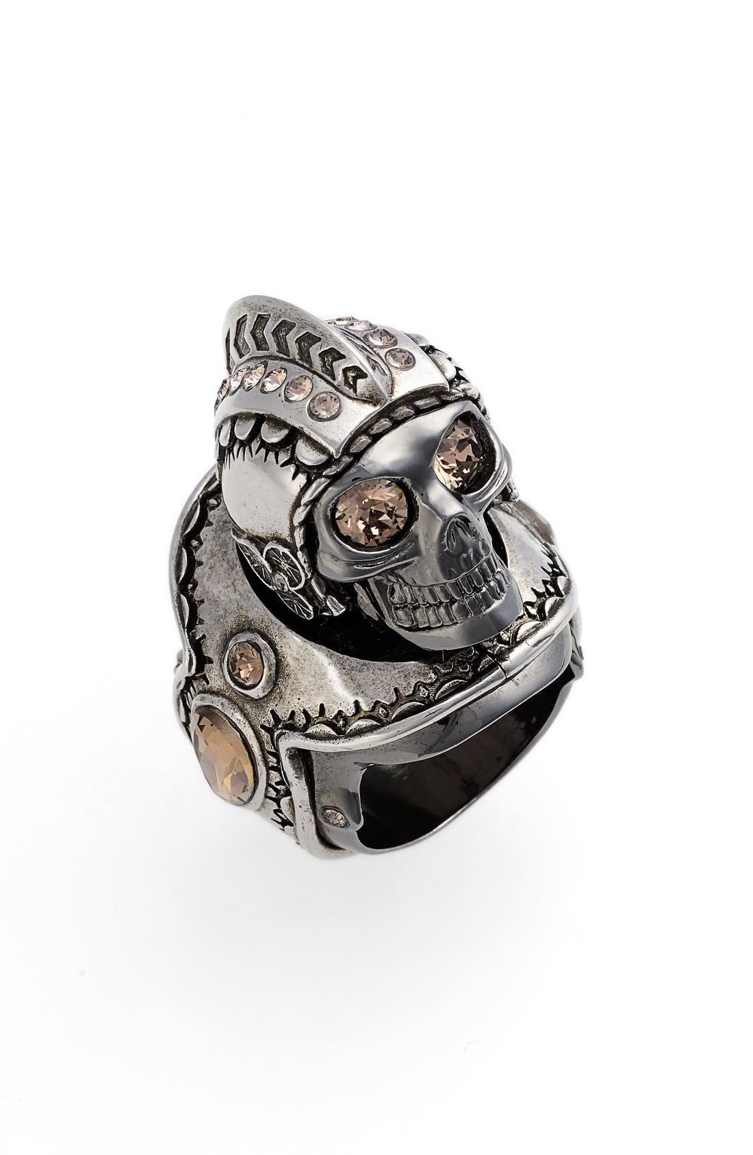 Alternate Image 1 Selected - Alexander McQueen 'Armour' Large Skull Ring