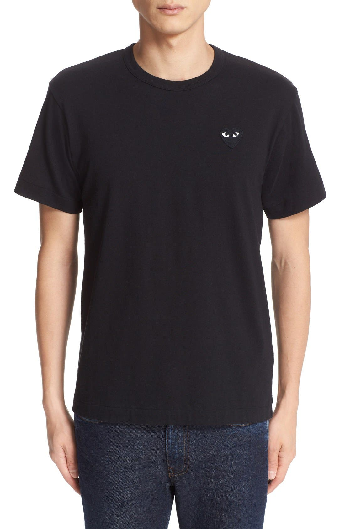 Comme des Garçons PLAY Logo Graphic T-Shirt,                             Main thumbnail 1, color,                             Black