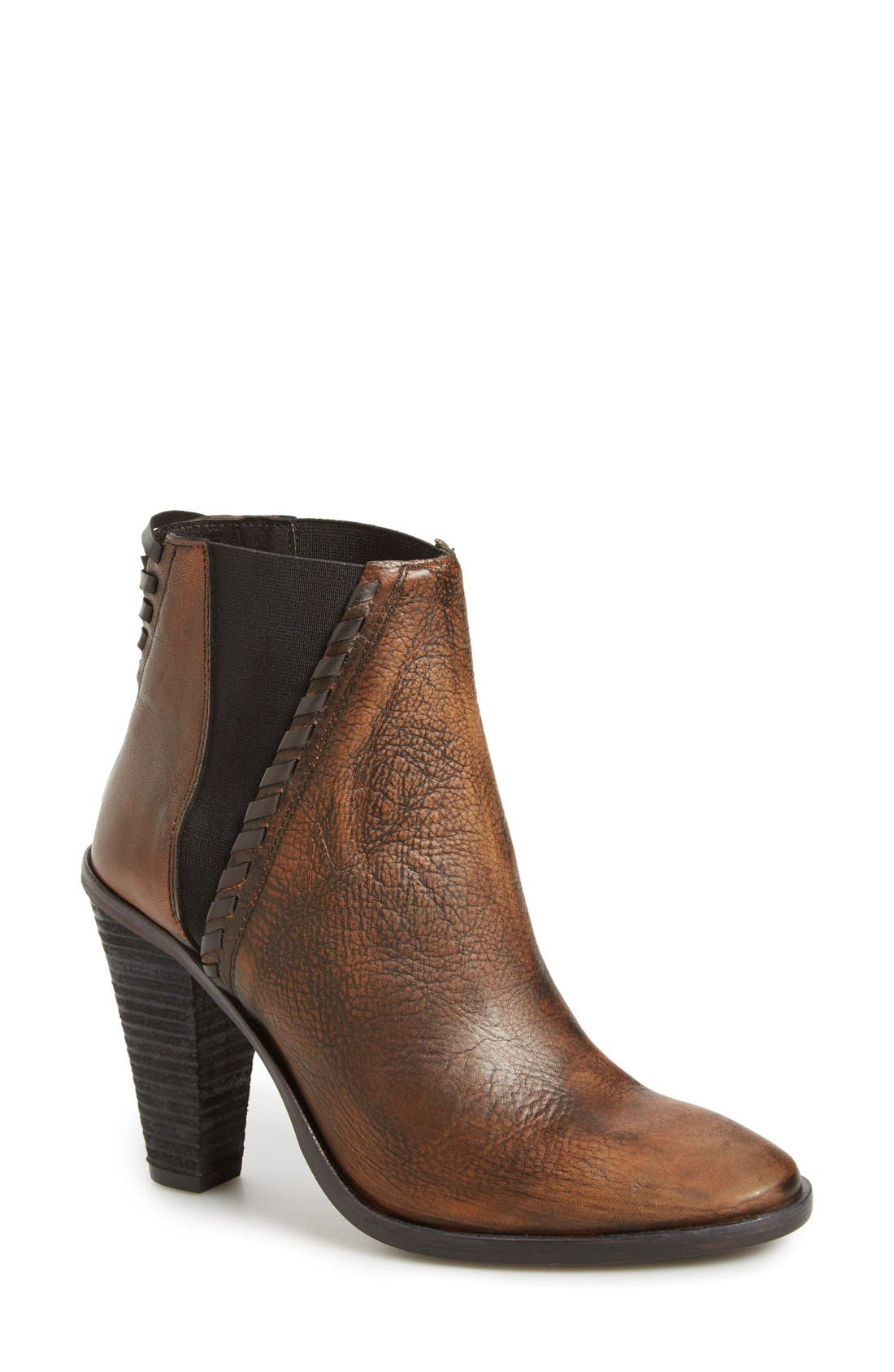 'Stardust' Chelsea Boot,                             Main thumbnail 1, color,                             Brown/ Bronze Leather