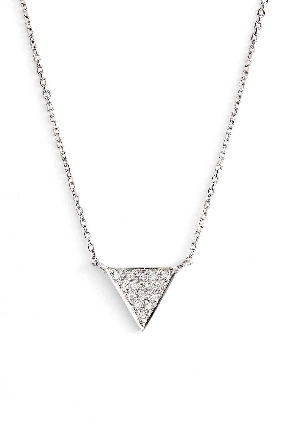 Main Image - Dana Rebecca Designs 'Emily Sarah' Diamond Triangle Pendant Necklace