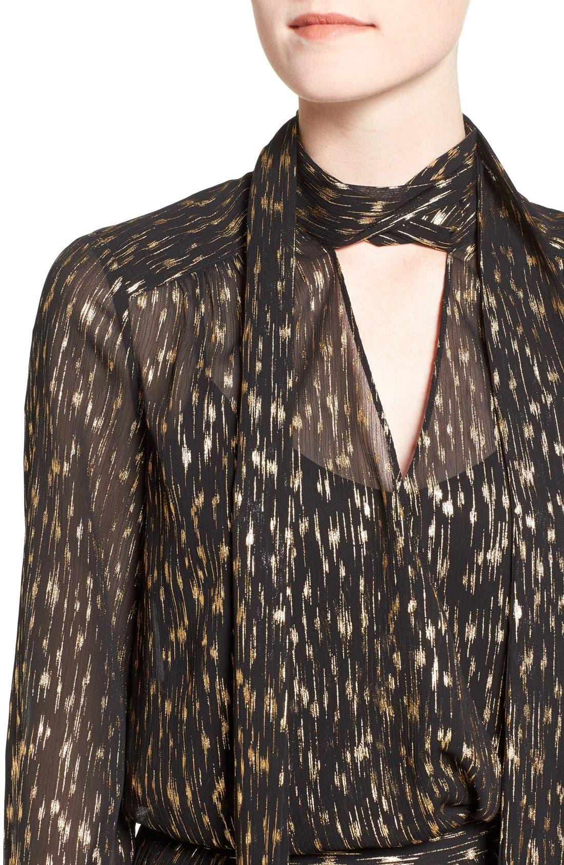 Alternate Image 5  - Olivia Palermo + Chelsea28 Tie Neck Blouse