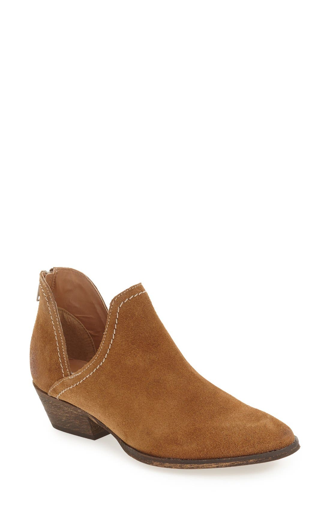 'Bai' Bootie,                             Main thumbnail 1, color,                             Tobacco Suede