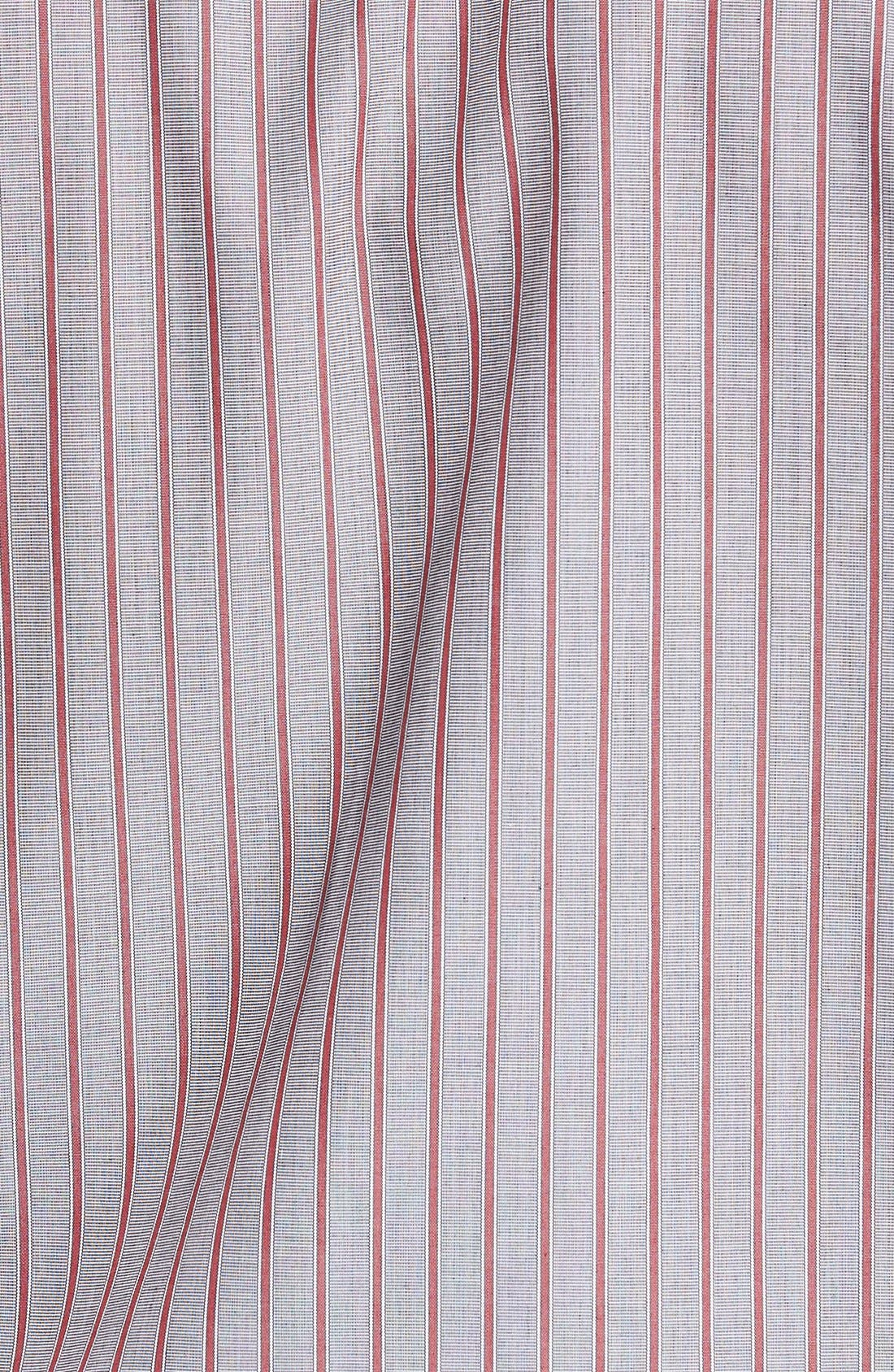 Alternate Image 5  - Cutter & Buck 'Peak' Classic Fit Wrinkle Free Stripe Sport Shirt