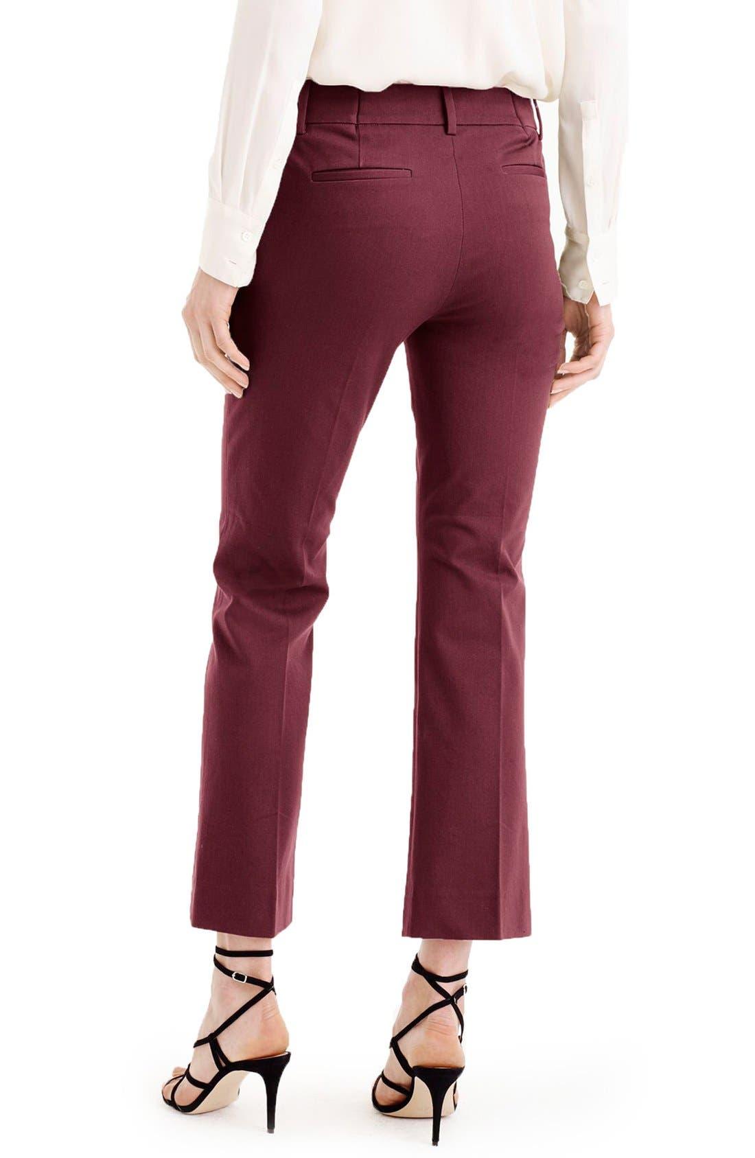 Alternate Image 2  - J.Crew 'Teddie' Bi-Stretch Cotton Blend Pants (Regular & Petite)