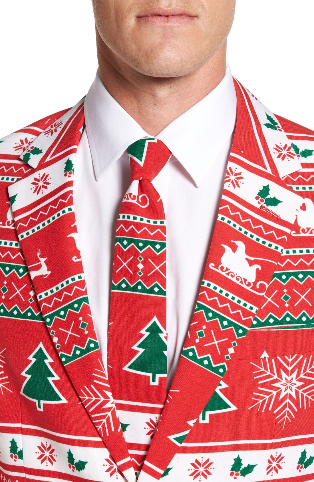 Alternate Image 4  - OppoSuits 'Winter Wonderland' Trim Fit Two-Piece Suit with Tie
