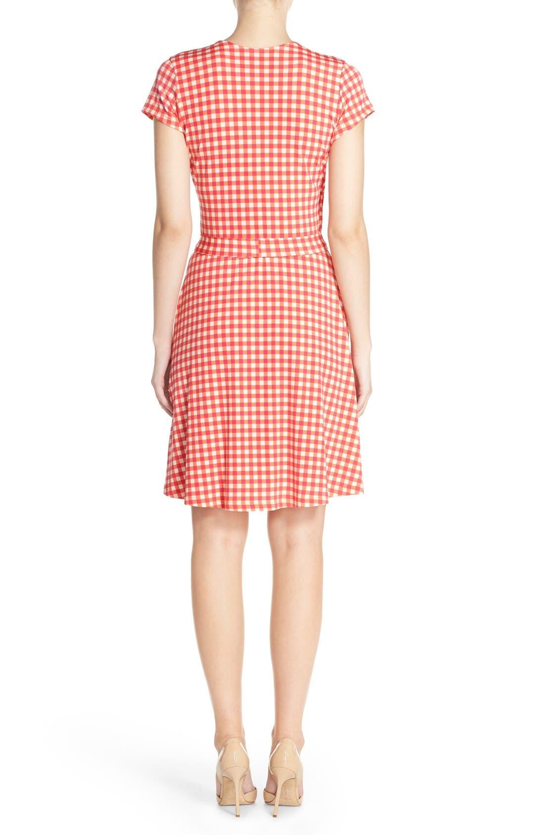 Alternate Image 2  - Leota Print Jersey Faux Wrap Dress