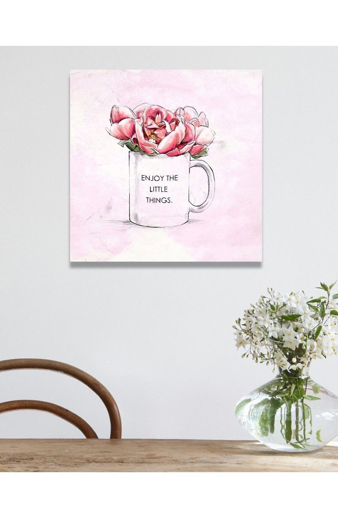 Alternate Image 2  - Oliver Gal 'Enjoy the Little Things' Canvas Print