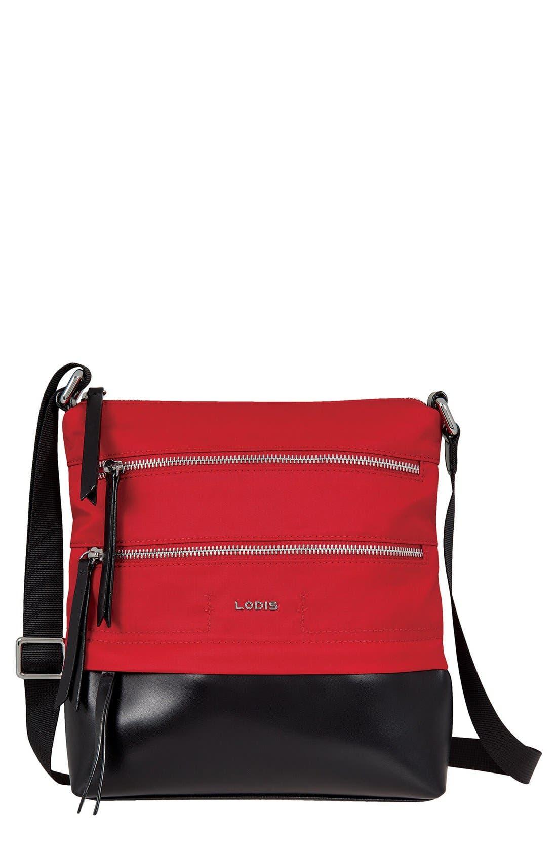 LODIS Wanda RFID Nylon & Leather Crossbody Bag