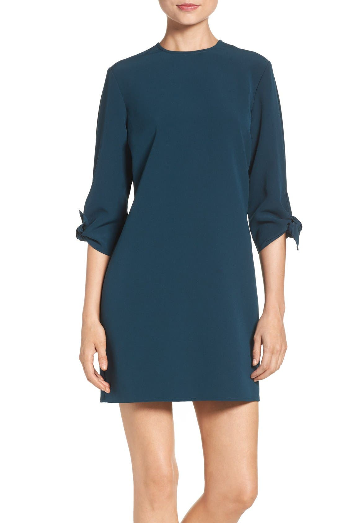 Main Image - Charles Henry Woven Shift Dress (Regular & Petite)