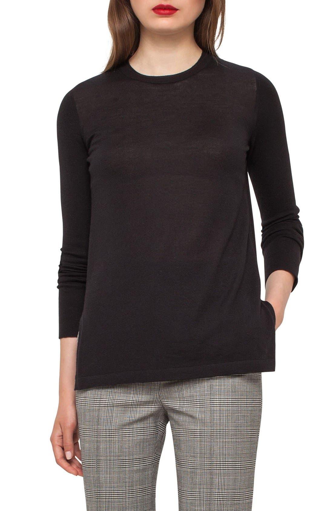Cashmere Tunic,                         Main,                         color, Black