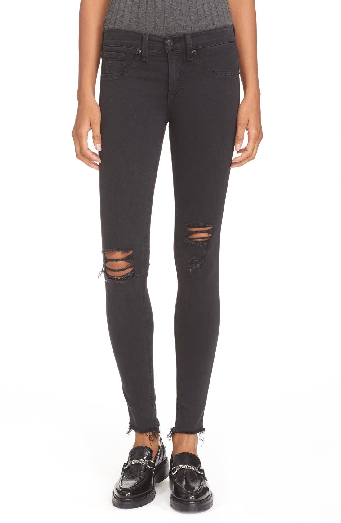 rag & bone/JEAN Ripped Denim Leggings | Nordstrom