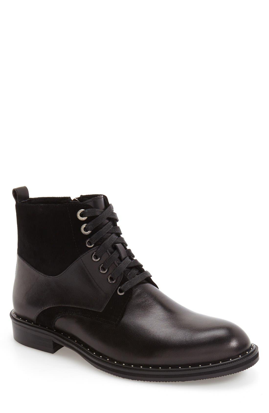'Verona' Midi Studded Boot,                             Main thumbnail 1, color,                             Black