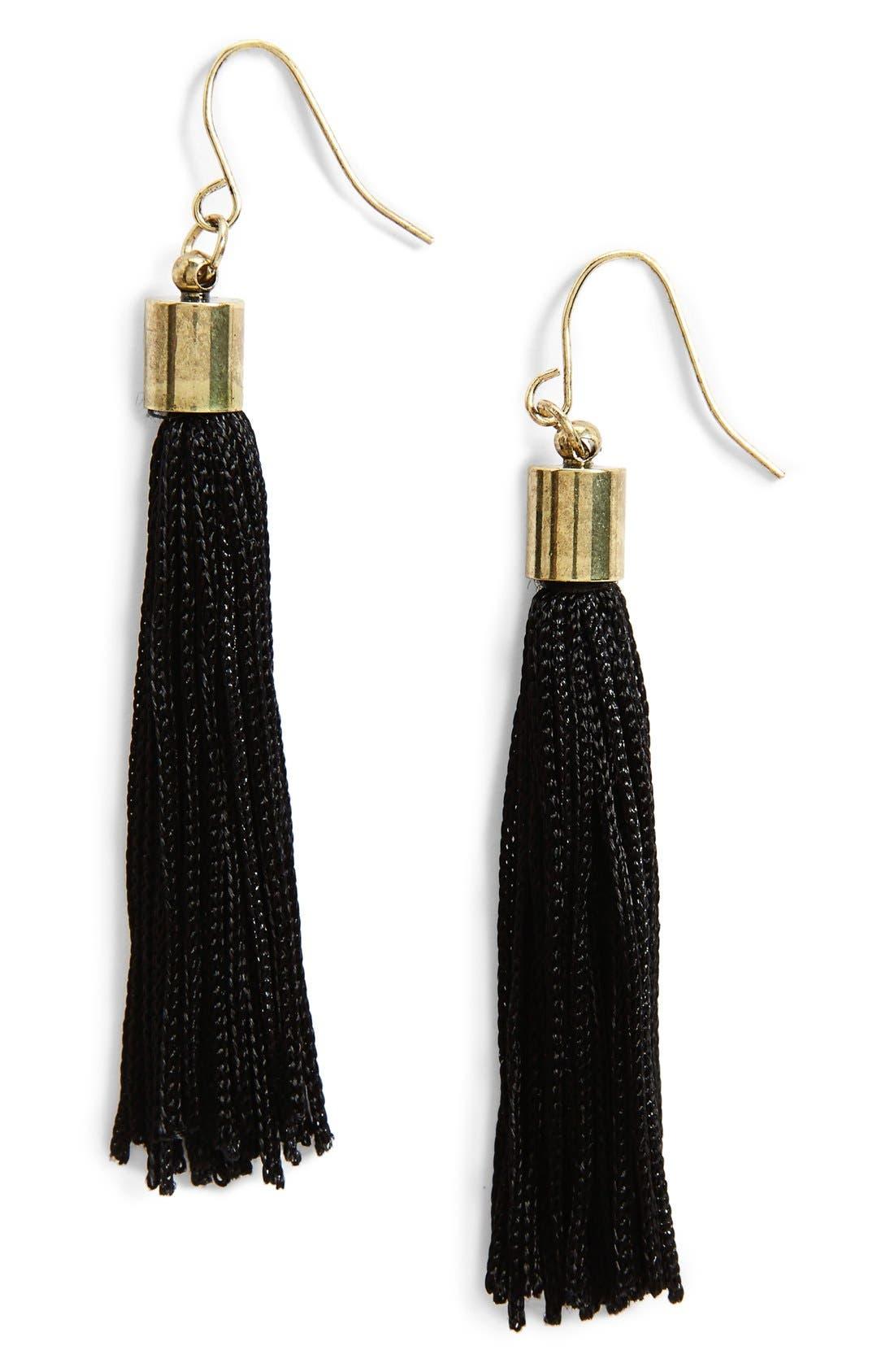 Main Image - BP. Tassel Drop Earrings