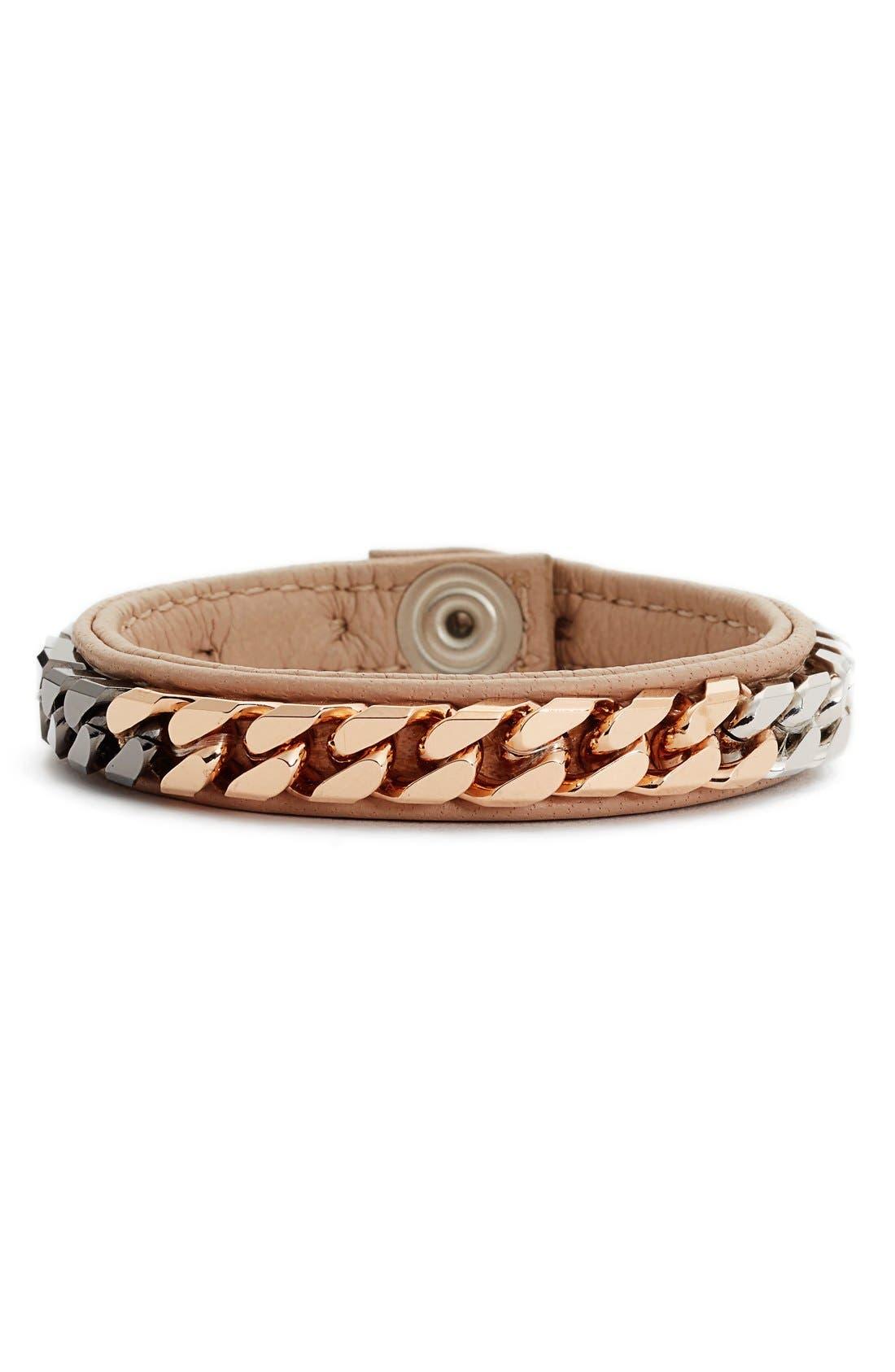 Monaco Wrap Bracelet,                         Main,                         color, Nude / Multi Chain