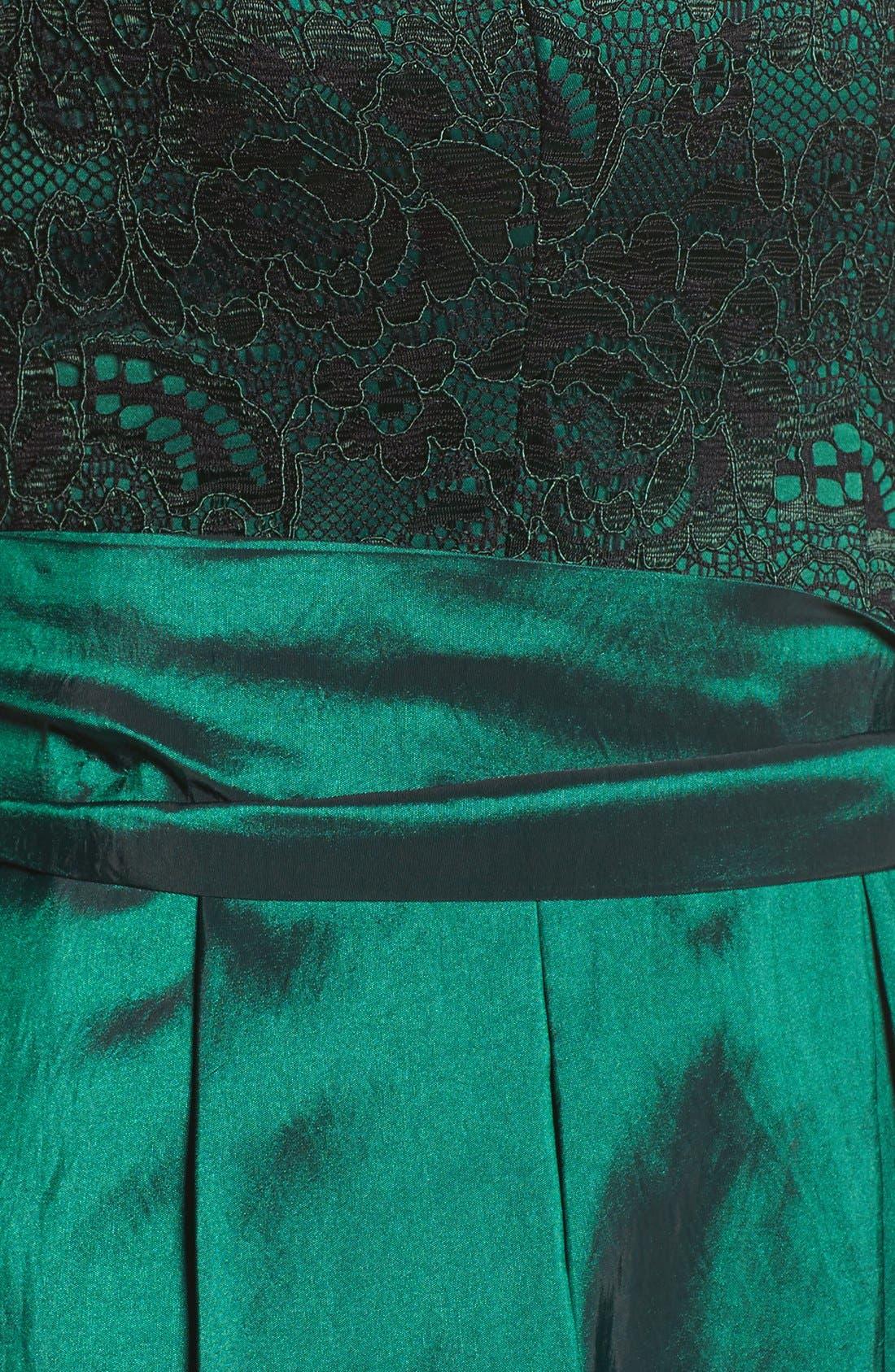 Alternate Image 5  - Eliza J Lace & Taffeta Gown