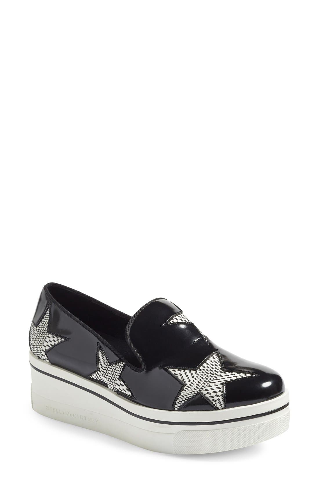 Alternate Image 1 Selected - Stella McCartney 'Binx Star' Slip-On Platform Sneaker (Women)