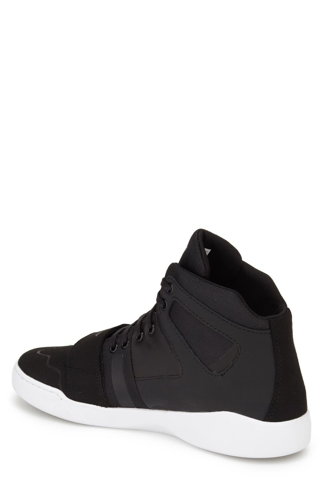 'Manzo' Sneaker,                             Alternate thumbnail 2, color,                             Black Leather