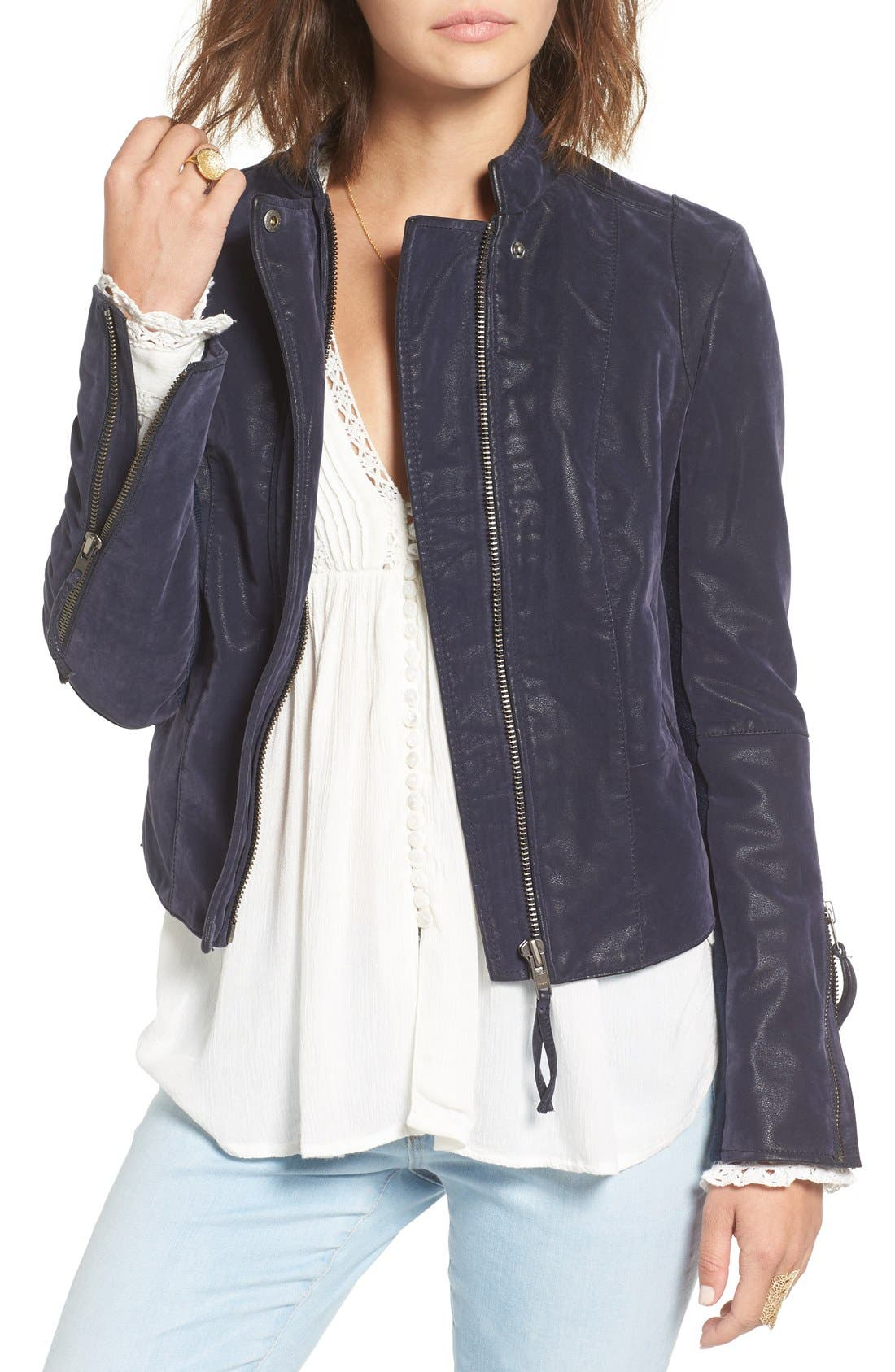 Main Image - Free People Faux Leather Jacket