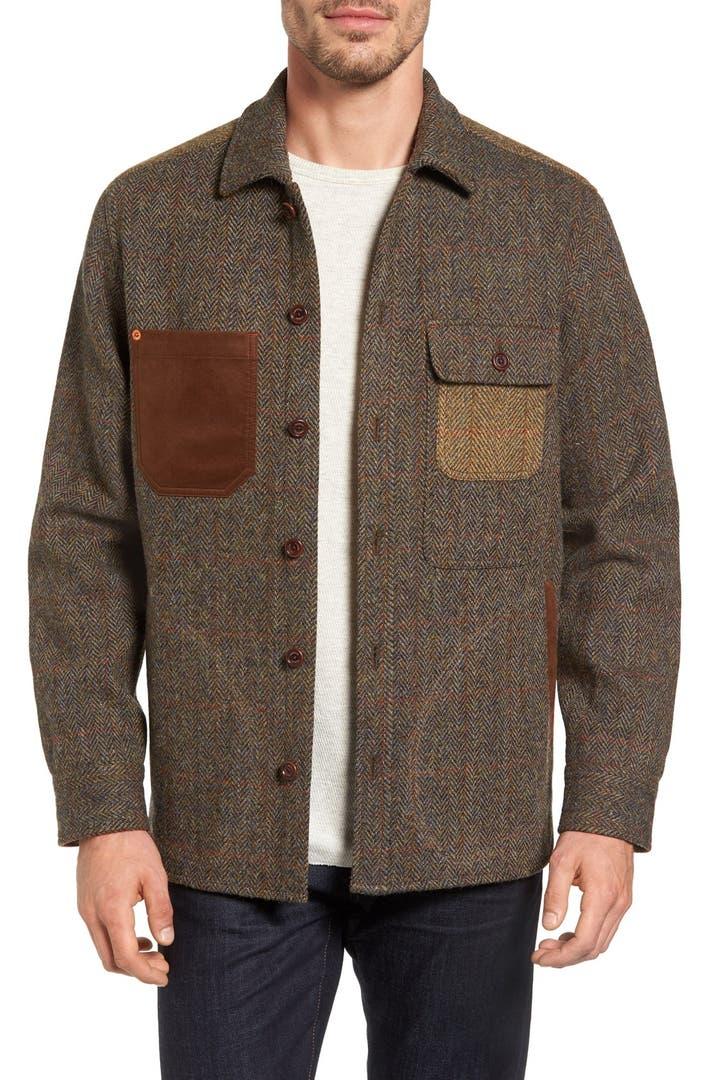 Tommy Bahama Harris Tweed Wool Shirt Jacket Nordstrom
