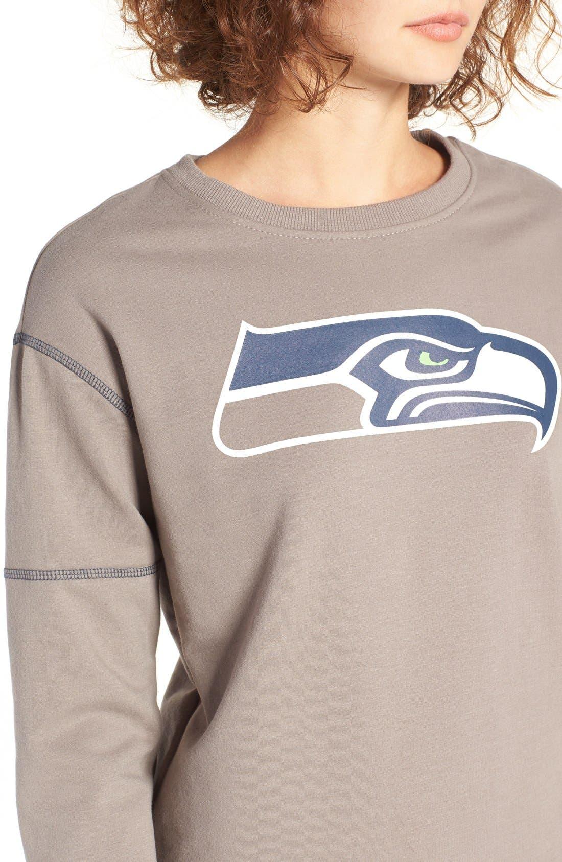 Alternate Image 4  - '47 'Seattle Seahawks' Graphic Sweatshirt