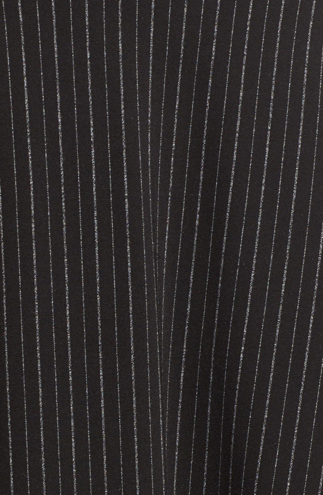 Alternate Image 5  - Bobeau Pinstripe A-Line Midi Skirt