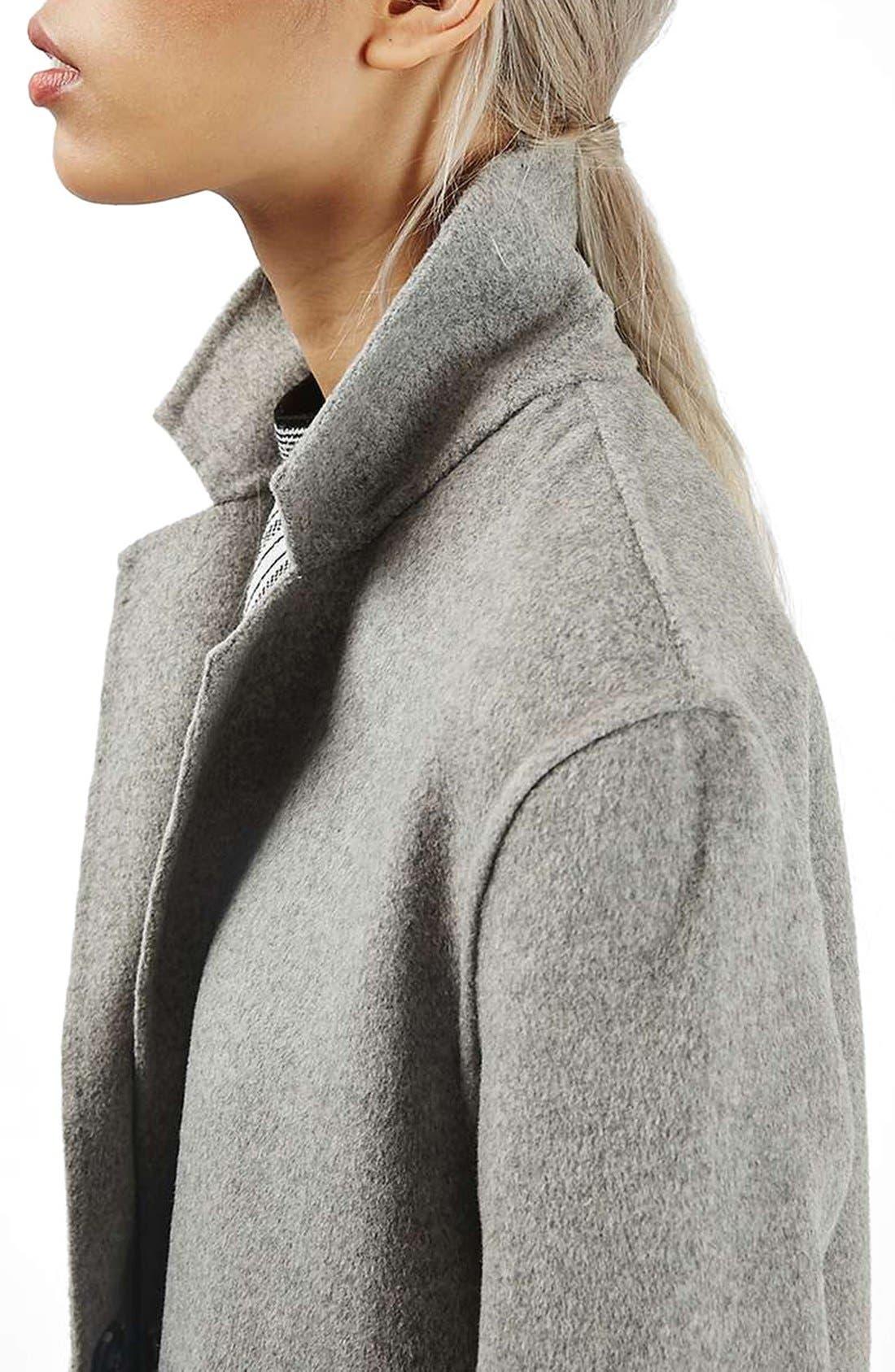 Alternate Image 5  - Topshop Snap Button Three-Quarter Coat