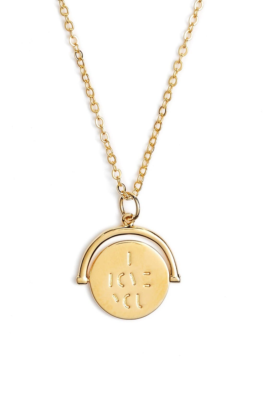 Alternate Image 1 Selected - lulu dk I Love You Love Code Charm Necklace
