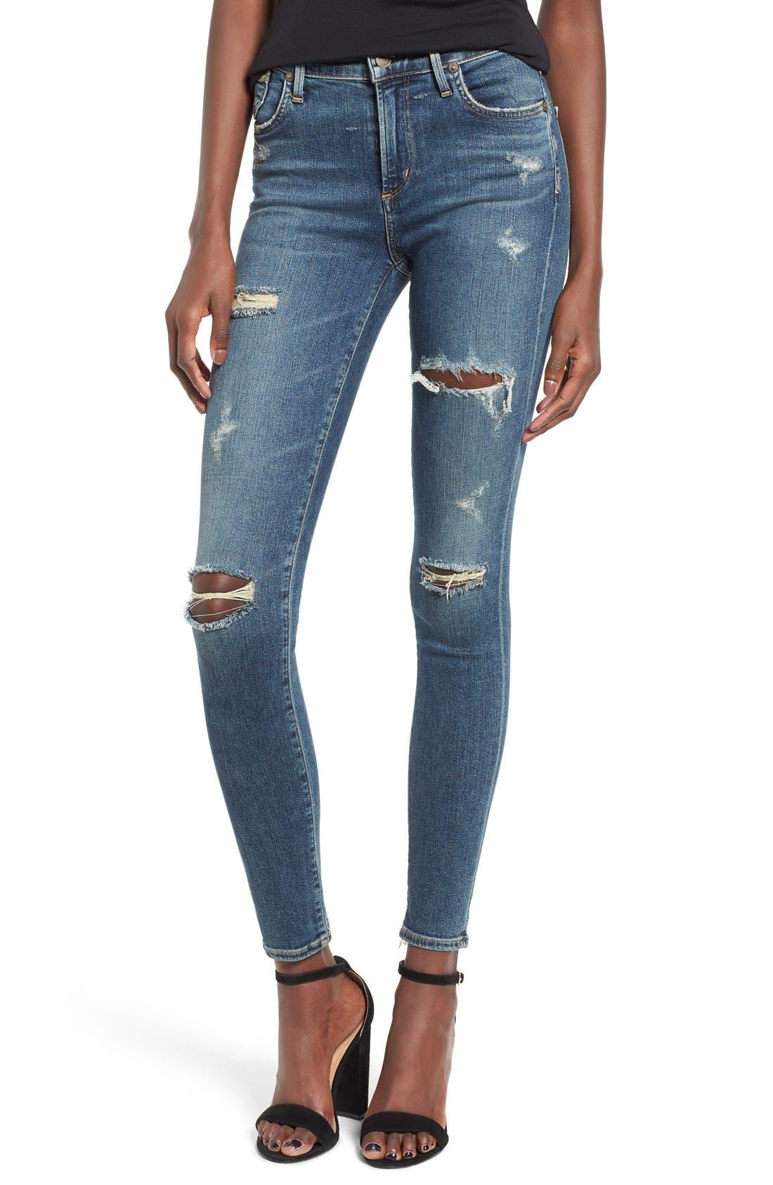 AGOLDE 'Sophie' High Rise Skinny Jeans (Kansas City)