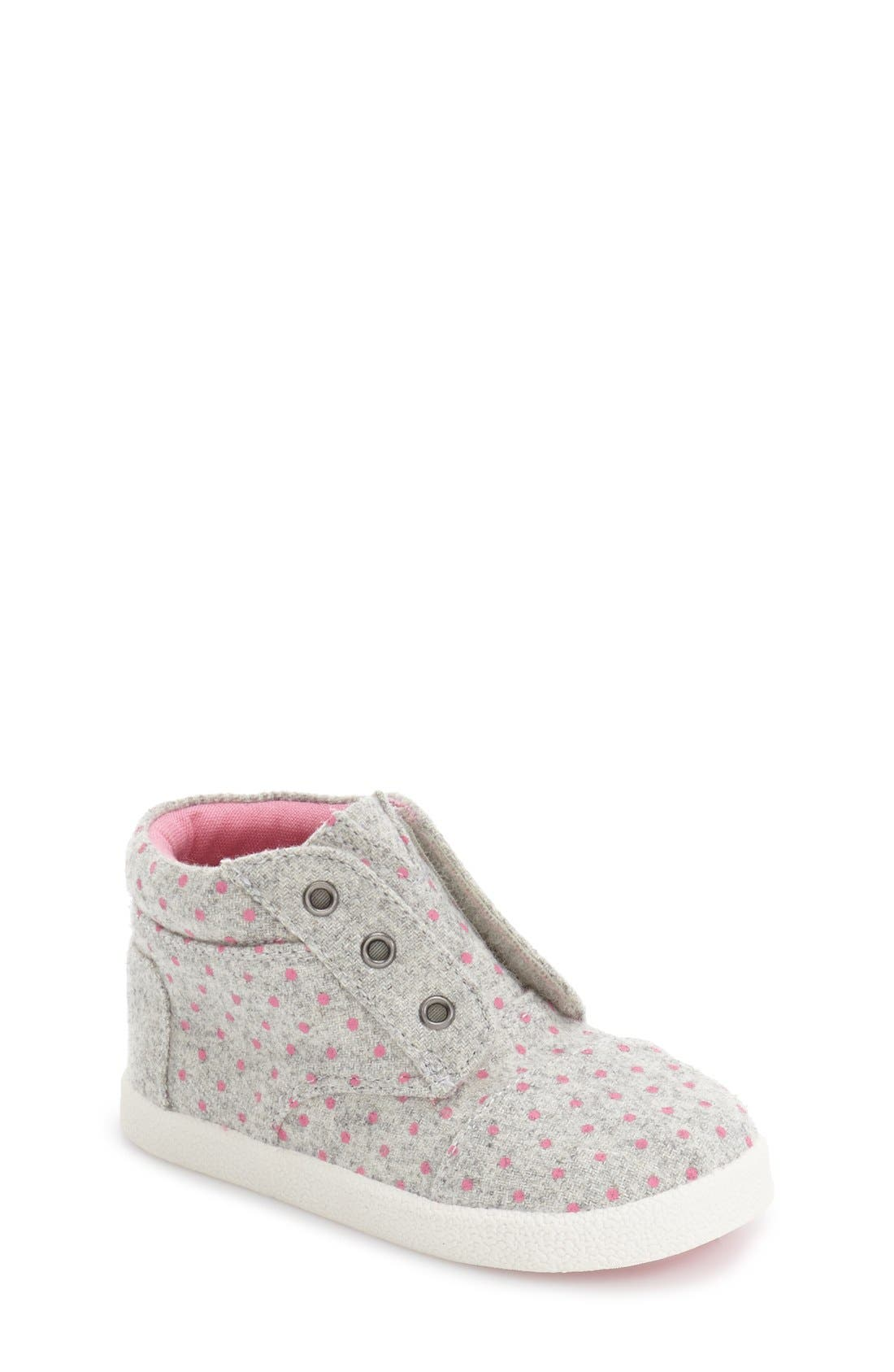TOMS 'Paseo' High Top Sneaker (Baby, Walker & Toddler)