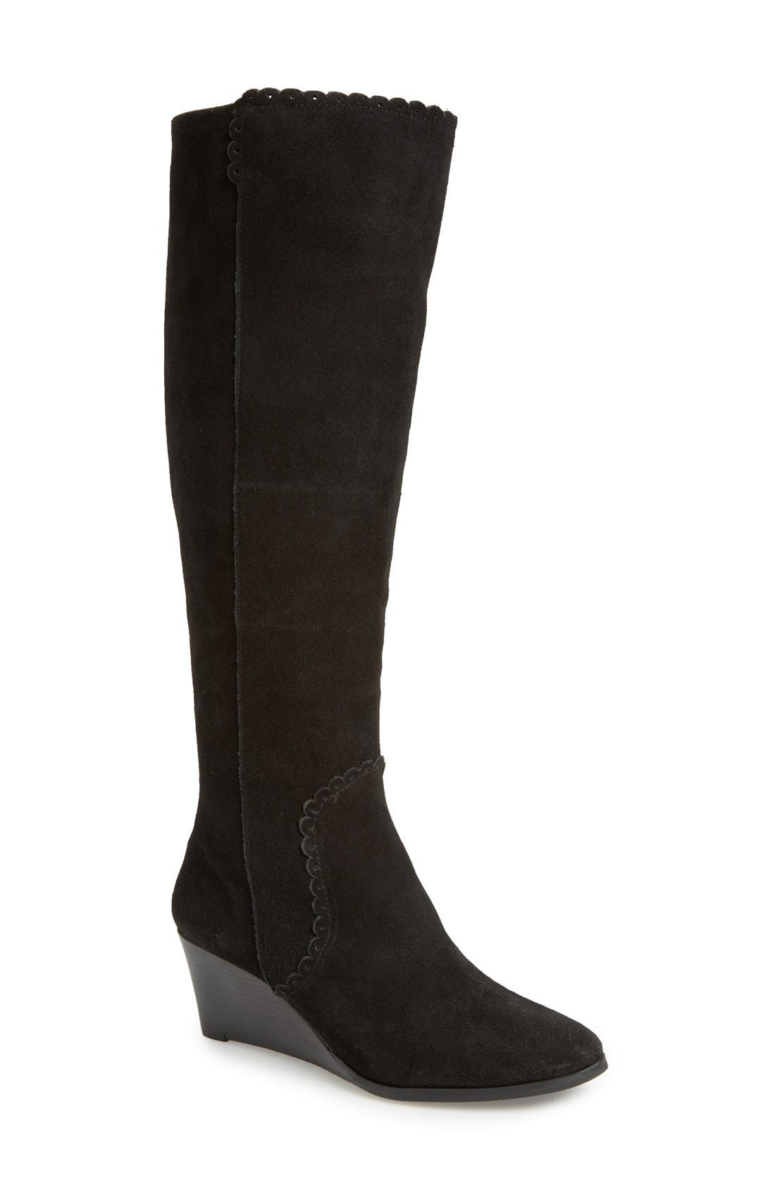 Main Image - Jack Rogers 'Mia' Knee High Wedge Boot (Women)
