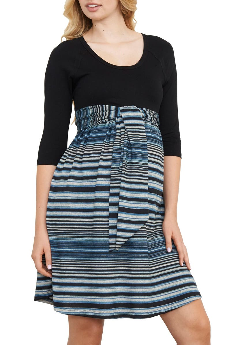 Scoop Neck Maternity Dress