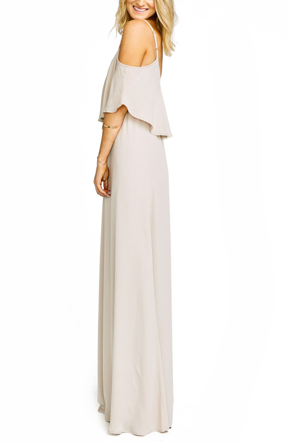 Alternate Image 4  - Show Me Your Mumu Caitlin Cold Shoulder Chiffon Gown