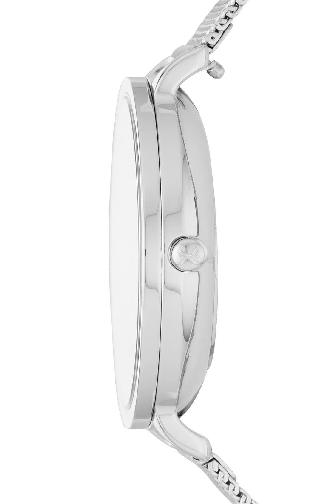 Alternate Image 2  - Skagen Hagen Round Mesh Strap Watch, 34mm