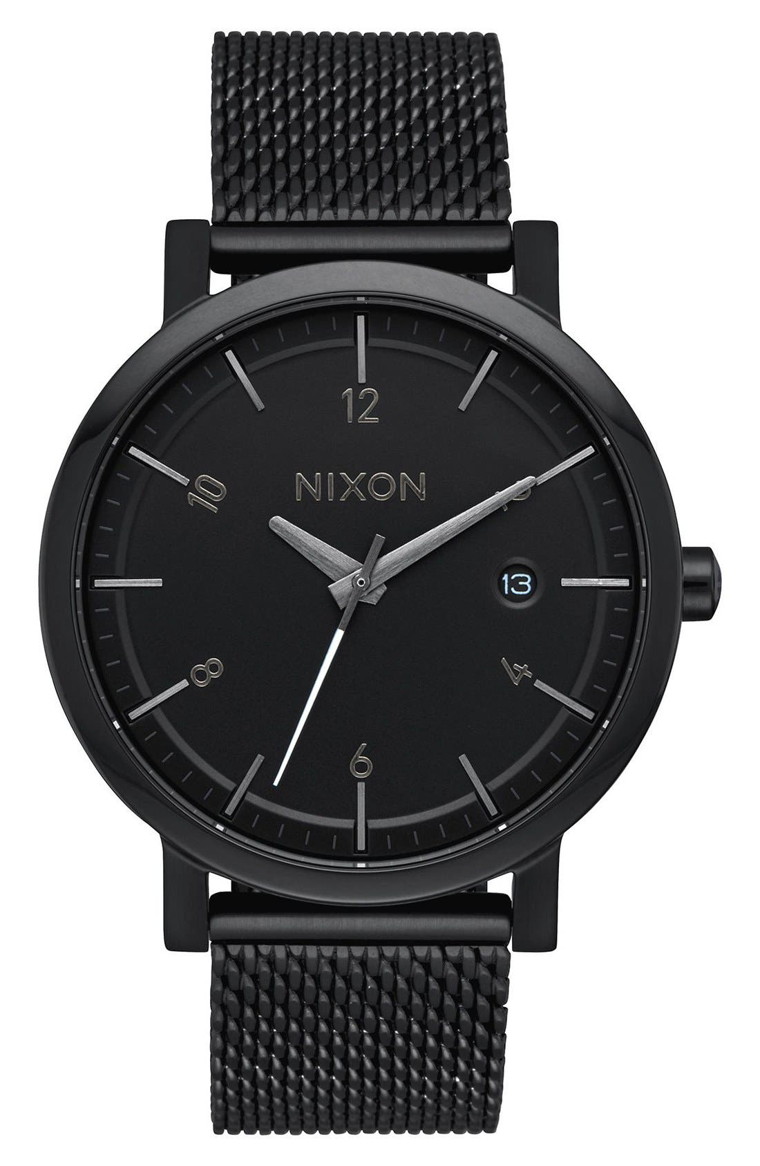 NIXON Rollo Mesh Strap Watch, 38mm