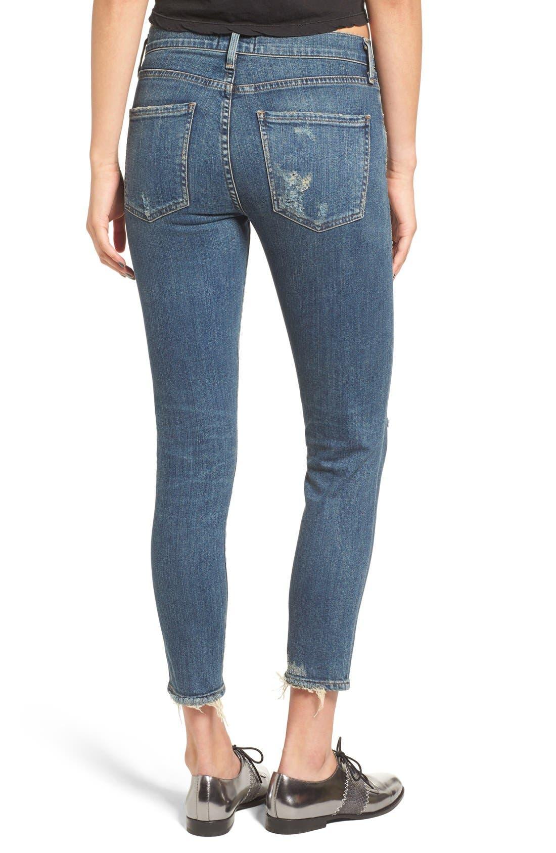 Alternate Image 4  - AGOLDE Sophie Crop High Rise Skinny Jeans (Santa Fe) (Women)