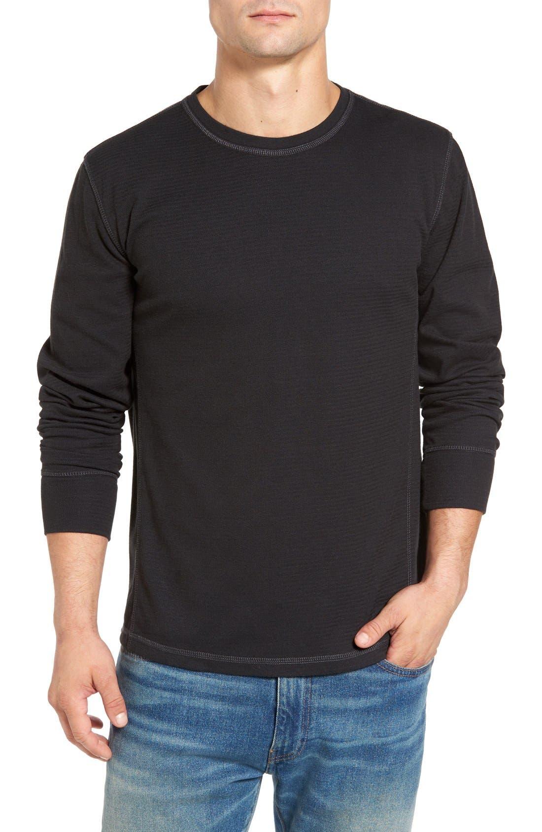 Larsen Zigzag Thermal T-Shirt,                             Main thumbnail 1, color,                             Black