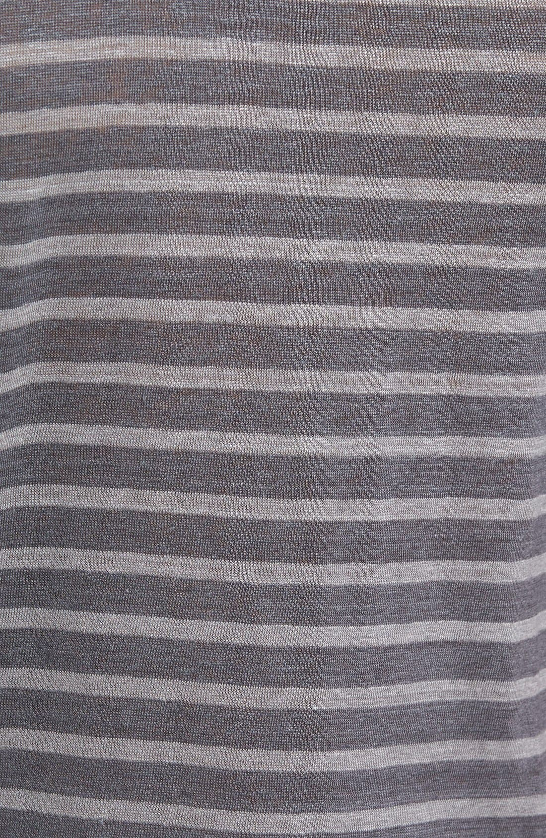 Alternate Image 5  - Slate & Stone Stripe Linen T-Shirt